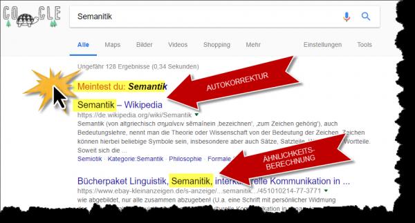 8 Hindernisse von Semantischen-Suchmaschinen-Googles-Semantik Berechnung und Autokorrektur