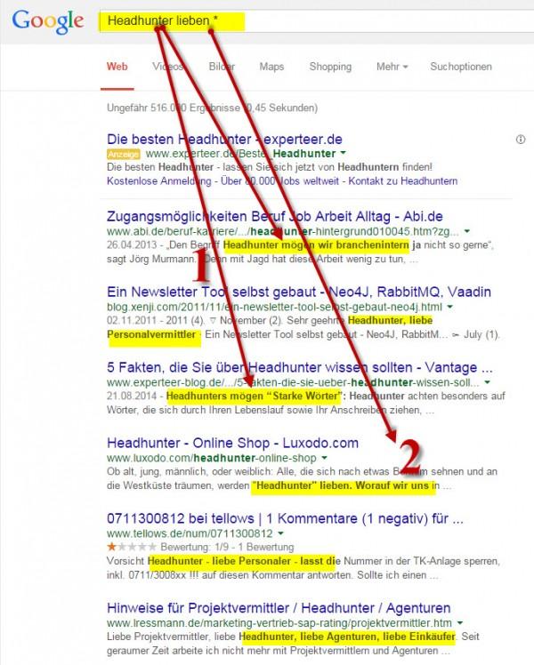 Active Sourcing Tricks und Hack mit Google - Suchergebnisse und Ranking verstehen