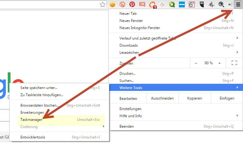 Apps- 10 praktische Tipps für Google Chrome - Chrome-Taskmanager