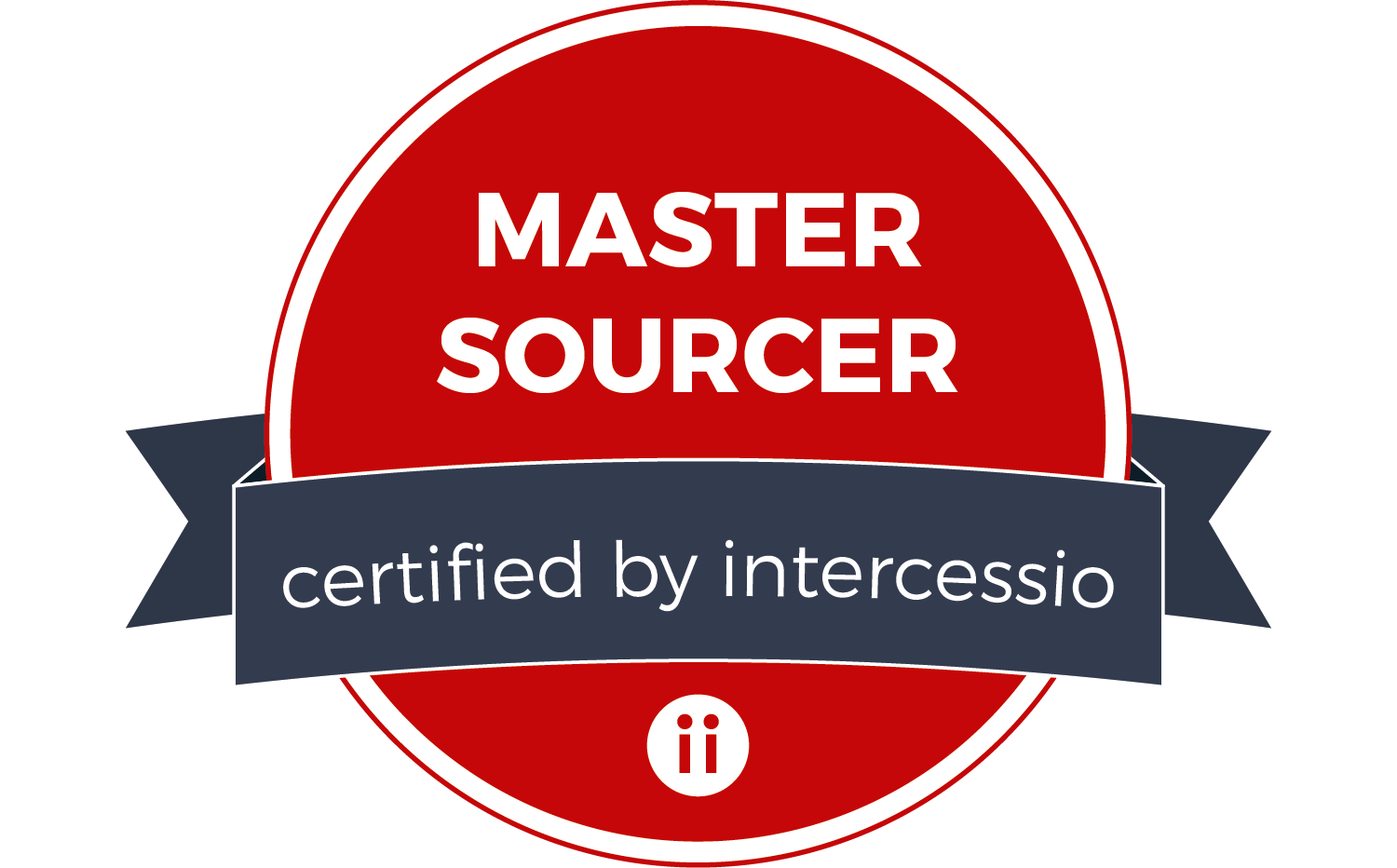 Proud to be a Master Sourcer certified by Intercessio