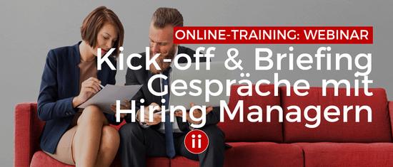 Briefing Gespräche mit Hiring Managern - XING Header