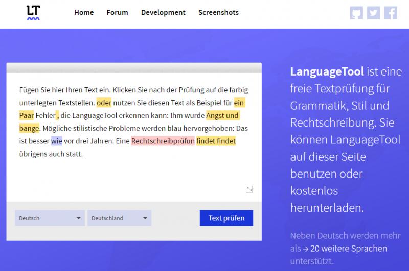LanguageTool nicht nur in der Kontaktphase eine Arbeitserleichterung