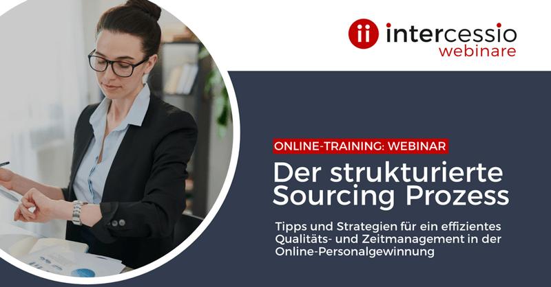 Live Online-Training - Der strukturierte Sourcing Prozess - effektives Zeit- und Qualitätsmanagement in der Online-Personalgewinnung
