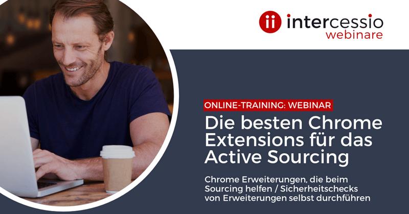 Live Online-Training - Die besten Chrome Extensions für das Active Sourcing -