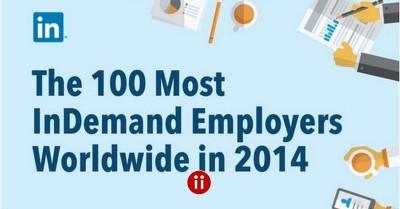 Die gefragtesten und besten Arbeitgeber 2014 weltweit mit Infographic