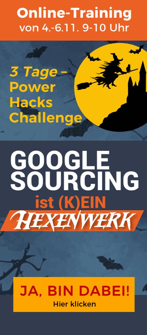 Google Sourcing Challenge - Hexenwerk