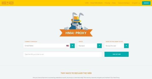 HR-Hacking Hide-my-Ass - praktische Proxy Server Site - mit Link