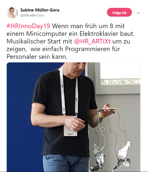 HR-Inspiration auf dem HR Innovation Day 2019: Coden für Personaler