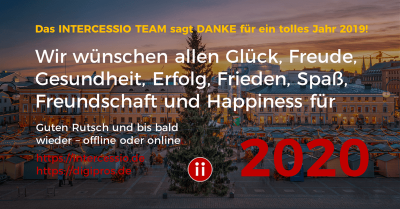 Happy New Year 2020 für unsere Intercessio Kunden und Follower