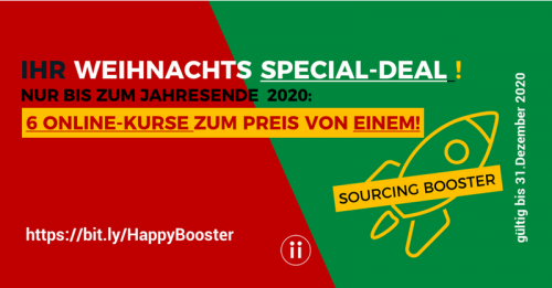 Happy Sourcing Booster Weihnachten und 2020