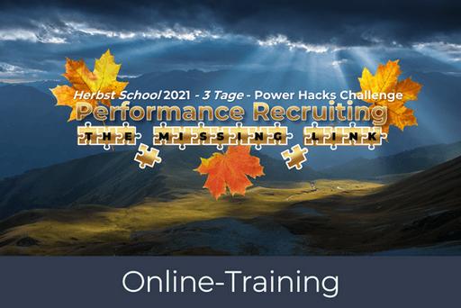 Herbst School 2021 - Performance Recruiting - PRODUKTBILD