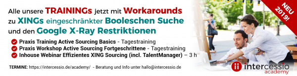 Intercessio Academy Webinar XING Sourcing und XING Update Trainings