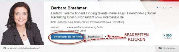 LinkedIn Header-neue Einstellung Übersicht