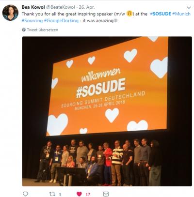 Mein Fazit des Sourcing Summit Germany 2018 - Beate Kowol