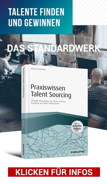 MEHR INFOS zum Standardwerk Praxiswissen Talent Sourcing by Barbara Braehmer