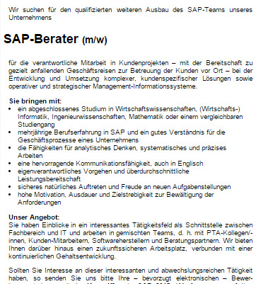 SAP-Berater Beispiel - Tech-Talente - Intercessio Blog