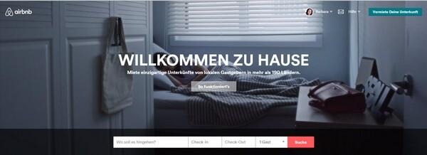 So geht Social Bewerbung - Airbnb