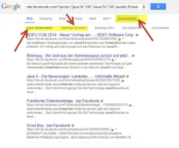 Sourcing Hacks Facebook - Intercessio Blog - Beispiel 1