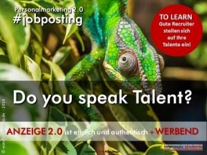 Stellenanzeige zwei null - Do you speak talent?