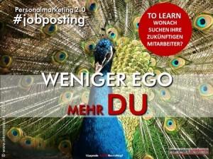 Stellenanzeige zwei-null-Weniger Ego - mehr wir