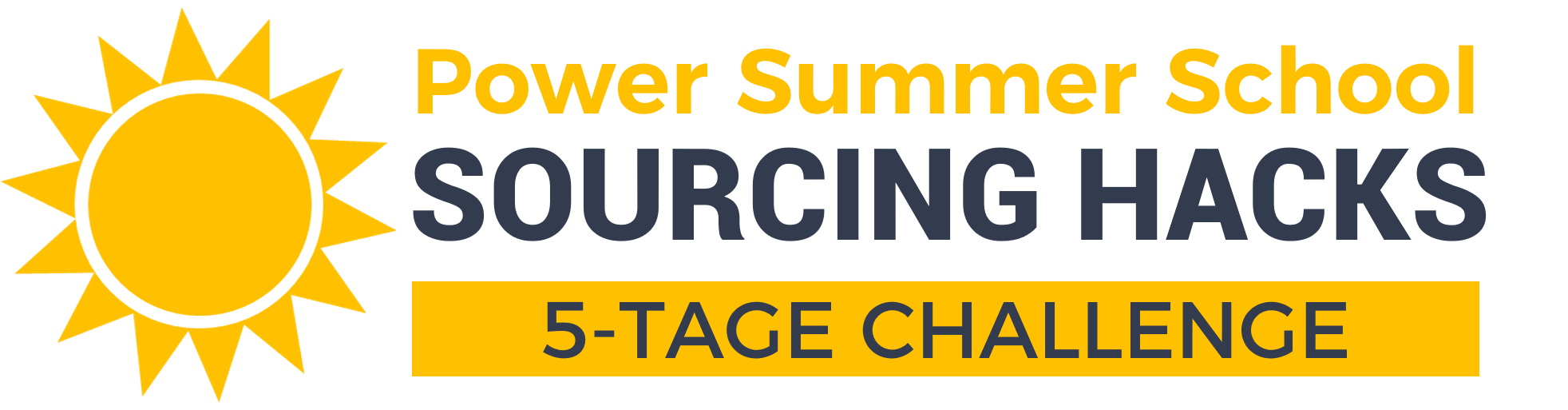 Summer School - Sourcing Hacks 2020 - Logo