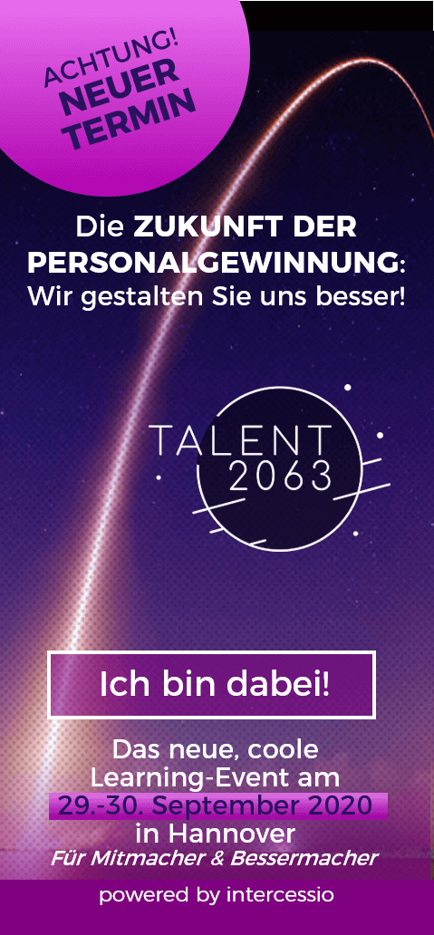 Sichern Sie sich Ihren Platz bei der Talent2063 am 29.-30 September in Hannover
