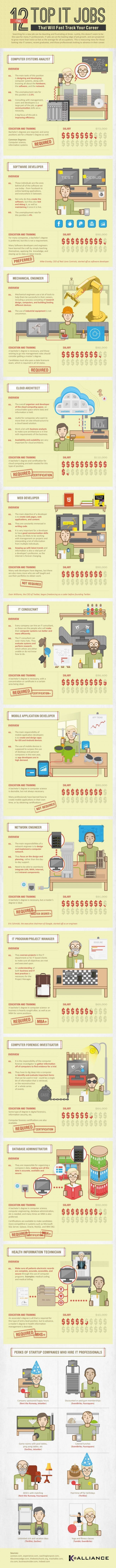 Tech-Talente verzweifelt gesucht - Infographic 12 IT-Berufe