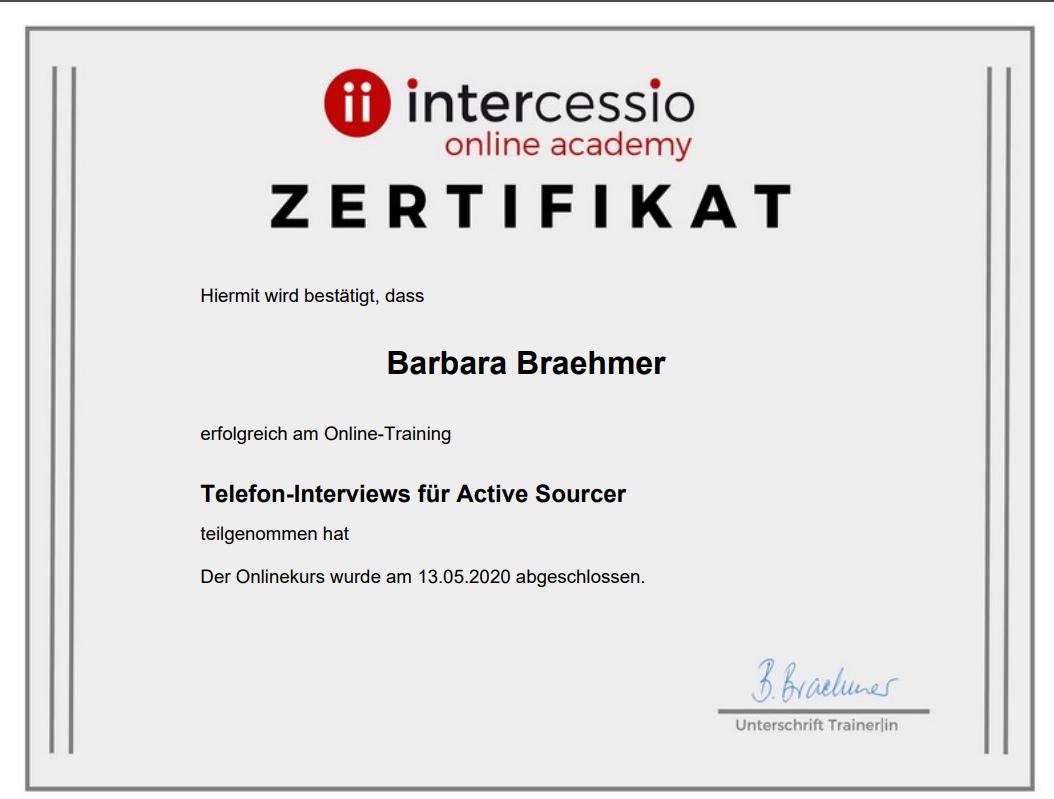 Teilnahme_Zertifikat- Telefon - Interviews