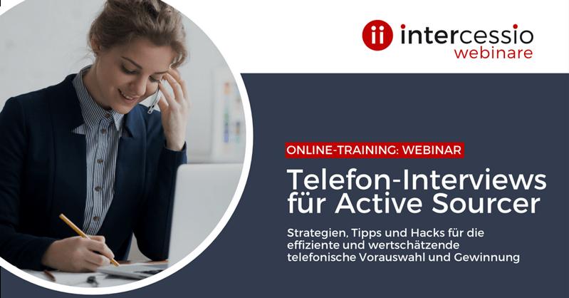 Live Online Training - Telefoninterviews für Active Sourcer - Telefonische Vorauswahl im Sourcing