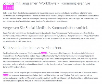 Temporausch im Socia -Recruiting Screenshot Carrierbuilder August 2016