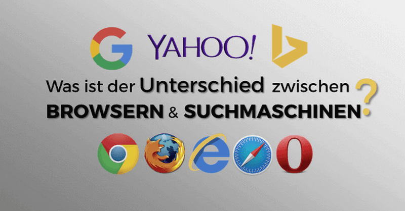 Was ist der Unterschied zwischen Browser und Suchmaschine