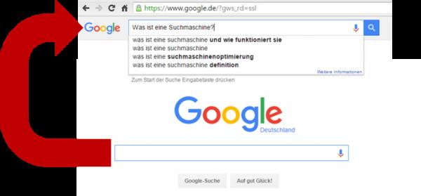 Wie funktioniert eine Suchmaschine in Zusammenhang mit Browser